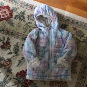 Toddler Girls Northface Reversible Jacket Size 4T